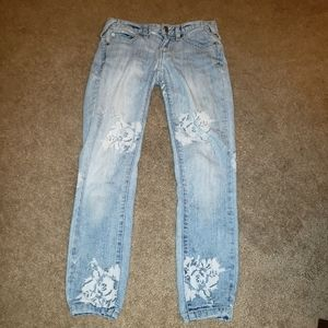 Free People Stretch Skinny light washed